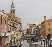 Chioggia, dichtbij Venetië Royalty-vrije Stock Foto's