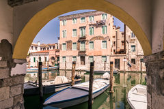 Chioggia glimpse from the arcades. Royalty Free Stock Image