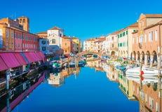 Chioggia Italien: Cityscape av Chioggia Royaltyfria Bilder
