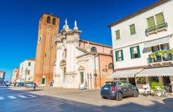 Chioggia Italien: Gatasikt av Chioggia Royaltyfria Bilder