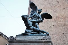 Chioggia, monument au tombé images stock