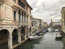 Chioggia nära Venedig Arkivfoto