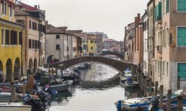 Chioggia nära Venedig royaltyfri bild