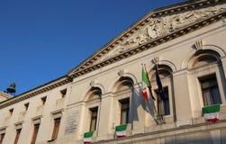 Chioggia, VE, Itália - 11 de fevereiro de 2018: Câmara municipal com italiano Imagem de Stock