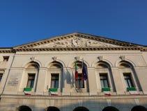 Chioggia, VE, Itália 11 de fevereiro de 2018: palácio antigo da cidade ha Imagem de Stock Royalty Free