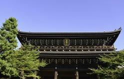 Chion在寺庙, Higashiyama,京都 图库摄影