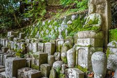 Chion-in temple garden graveyard, Kyoto, Japan. Graveyard in Chion-in temple garden, Kyoto, Japan stock photo
