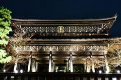 Chionin寺庙庄严Sanmon门在京都 库存图片