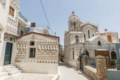 Chios ö, Pyrgi Fotografering för Bildbyråer