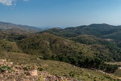 Chios hill view covered in with grass royalty free stock images