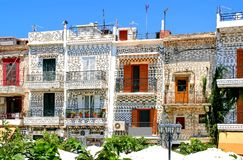 Chios, Pyrgi, architecture spéciale photos stock