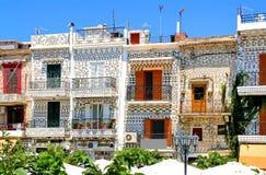 Chios, Pyrgi, spezielle Architektur Stockfotos