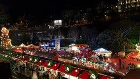 Chioschi nel mercato di Natale di Edimburgo Fotografie Stock
