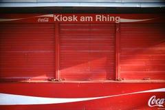 Chiosco al Rhing Colonia fotografia stock libera da diritti