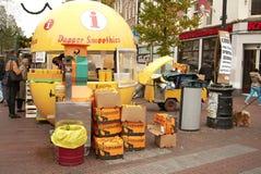 Chiosco arancio a Amsterdam fotografia stock libera da diritti