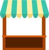 Chiosco con la tenda illustrazione di stock