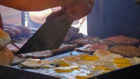 Chiosco di pasto rapido a Buenos Aires, Argentina immagini stock libere da diritti
