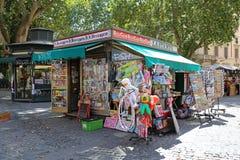 Chiosco a Roma fotografia stock libera da diritti