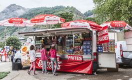 Chiosco sul Tour de France 2014 del bordo della strada Immagine Stock