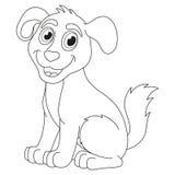 Chiot de bande dessinée, illustration de vecteur de chien mignon Photos stock