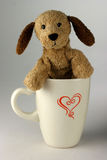 Chiot de cuvette de café Photo stock