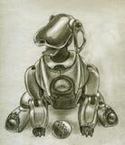 Chiot de robot Photographie stock libre de droits