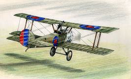 Chiot de WW1 Sopwith illustration stock
