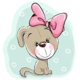 Chiot mignon de dessin animé Image stock