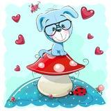 Chiot mignon de dessin animé Images stock
