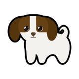 Chiot mignon peu adorable canin illustration stock