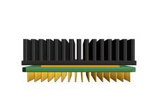 Chip. 3d rendered illustration of a computer Chip Royalty Free Stock Photos