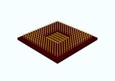 Chip. 3d rendered illustration of a computer Chip vector illustration