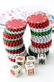 Chip & roulette di mazza. fotografia stock libera da diritti