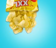 Chip Bag Royalty Free Stock Photography