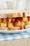 Chip Butty Royalty Free Stock Photo