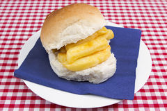 Chip Butty Stock Photo