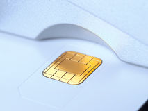 Chip card in the slot Royalty Free Stock Image