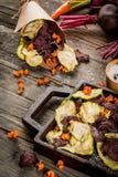 Chip casalinghi della verdura Immagine Stock Libera da Diritti