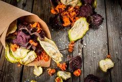 Chip casalinghi della verdura Fotografie Stock Libere da Diritti