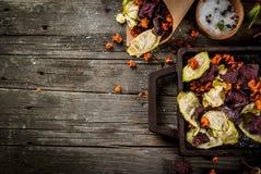 Chip casalinghi della verdura Fotografia Stock