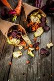 Chip casalinghi della verdura Fotografia Stock Libera da Diritti
