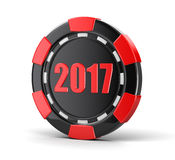 Chip of casino 2017. Image with clipping path Stock Image