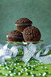 Chip chocolate muffins Stock Images