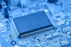 Chip on a circuit board. Stock Photography