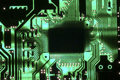 Chip on circuit board Stock Photos