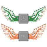Chip Circuit Wings Photographie stock libre de droits