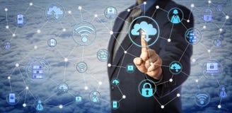 Chip Client Testing Enterprise Mobility bleu Images libres de droits