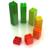 Chip colorati su una priorità bassa bianca Immagine Stock