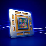 Chip Computer-CPU (Zentraleinheitseinheit) lizenzfreie abbildung