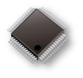Chip-Computer-Firma-Marke Lizenzfreies Stockfoto